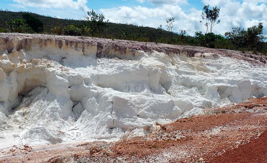 Белая глина каолин