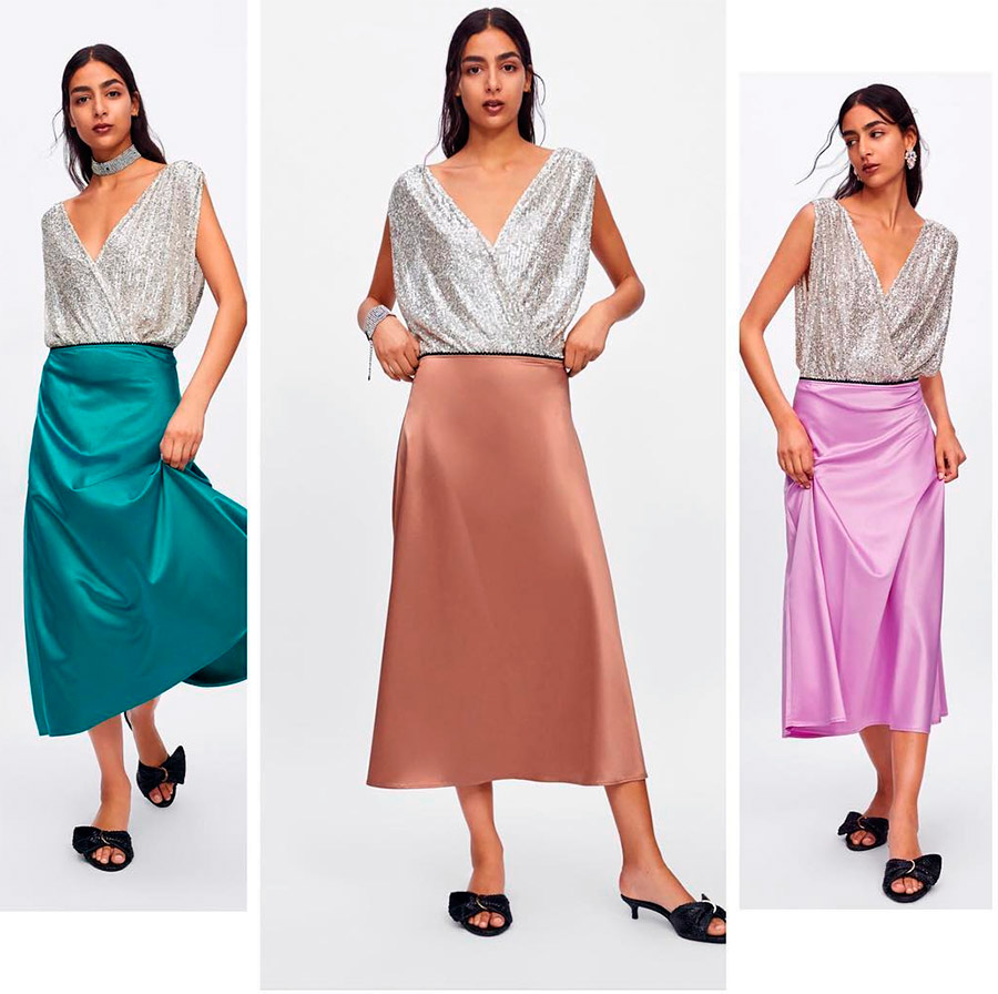 Всего одна модная юбка и множество стильных образов