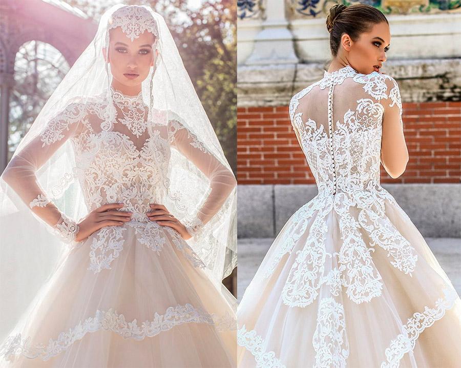 Викторианское свадебное платье