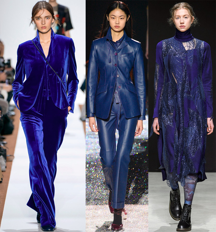 Modra barva v ženski modi