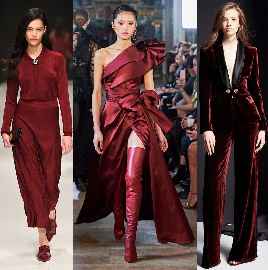 Modische Farben in der Kleidung.