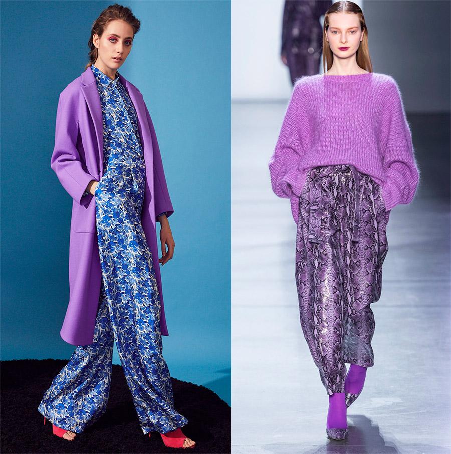 Vijolični odtenki v oblačilih