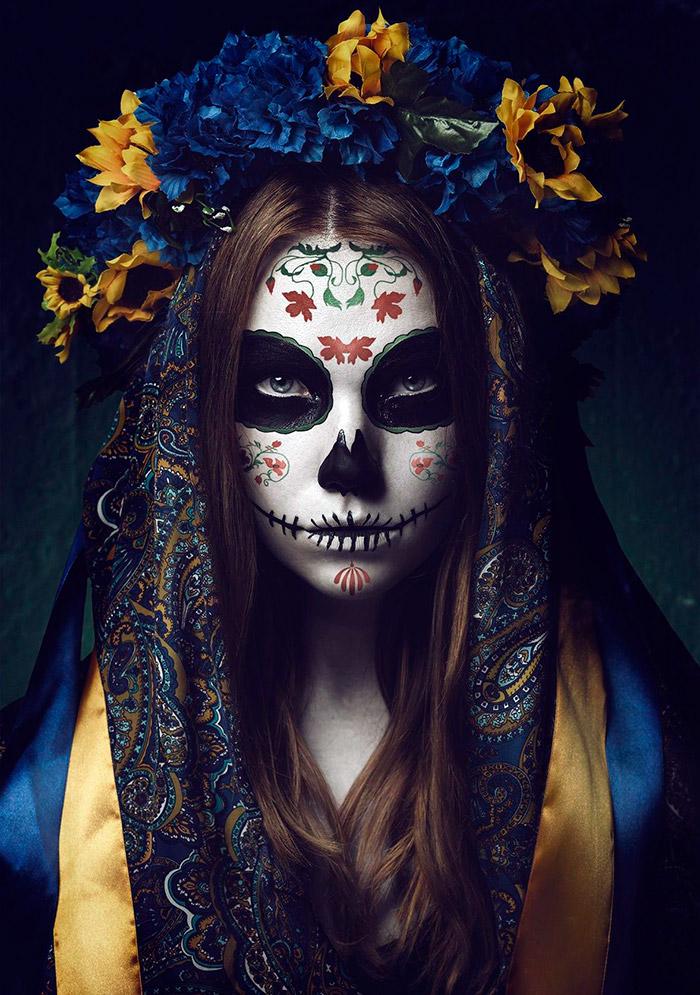 Макияж – маска смерти Калавера