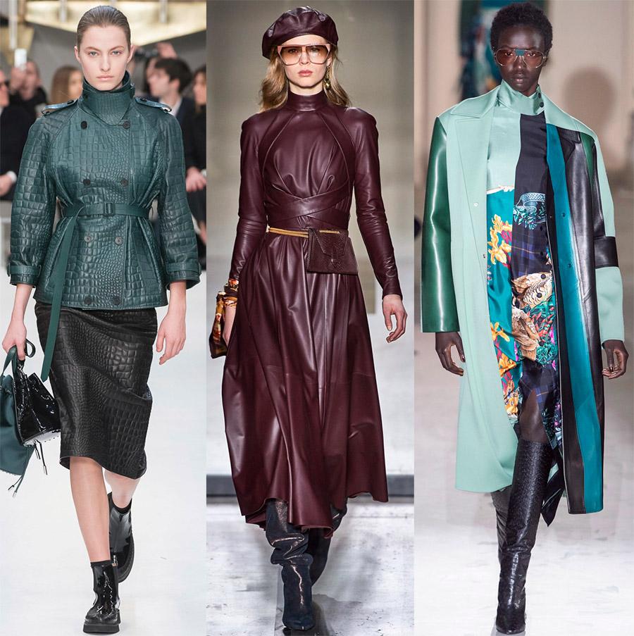 Женская одежда из кожи