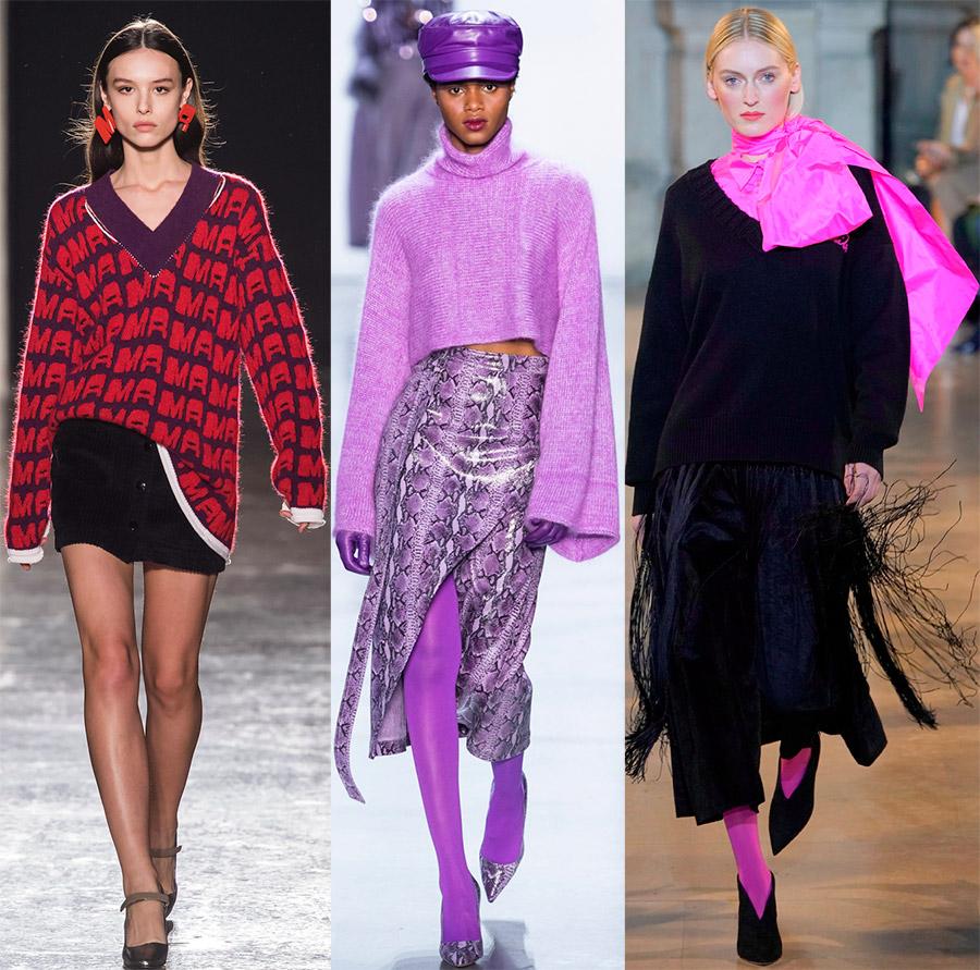 Модные женские свитера и джемпера 2019-2020 года