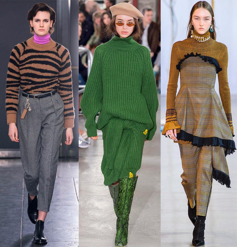 Модные женские свитера и джемпера