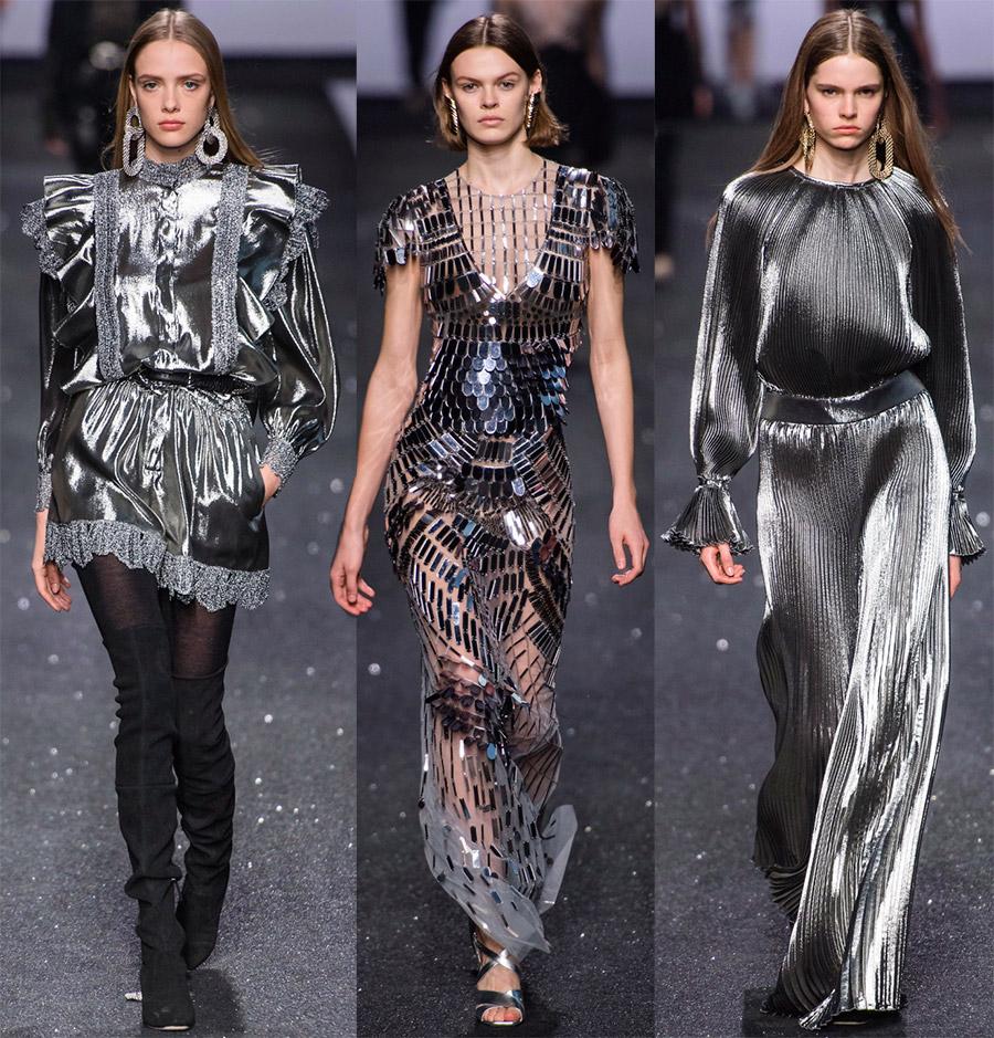 Gaun fashion mengkilap