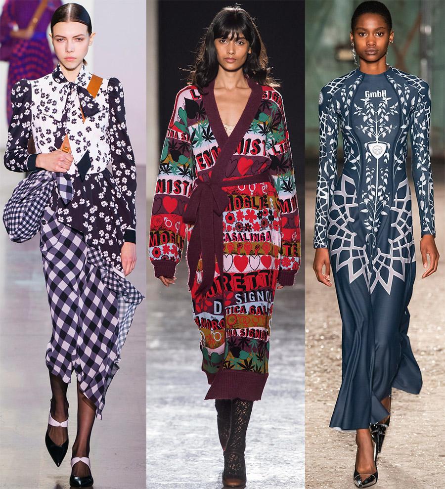 Mode cetak di pakaian untuk wanita
