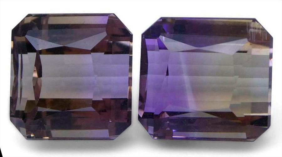 Аметрин или боливианит кристалл