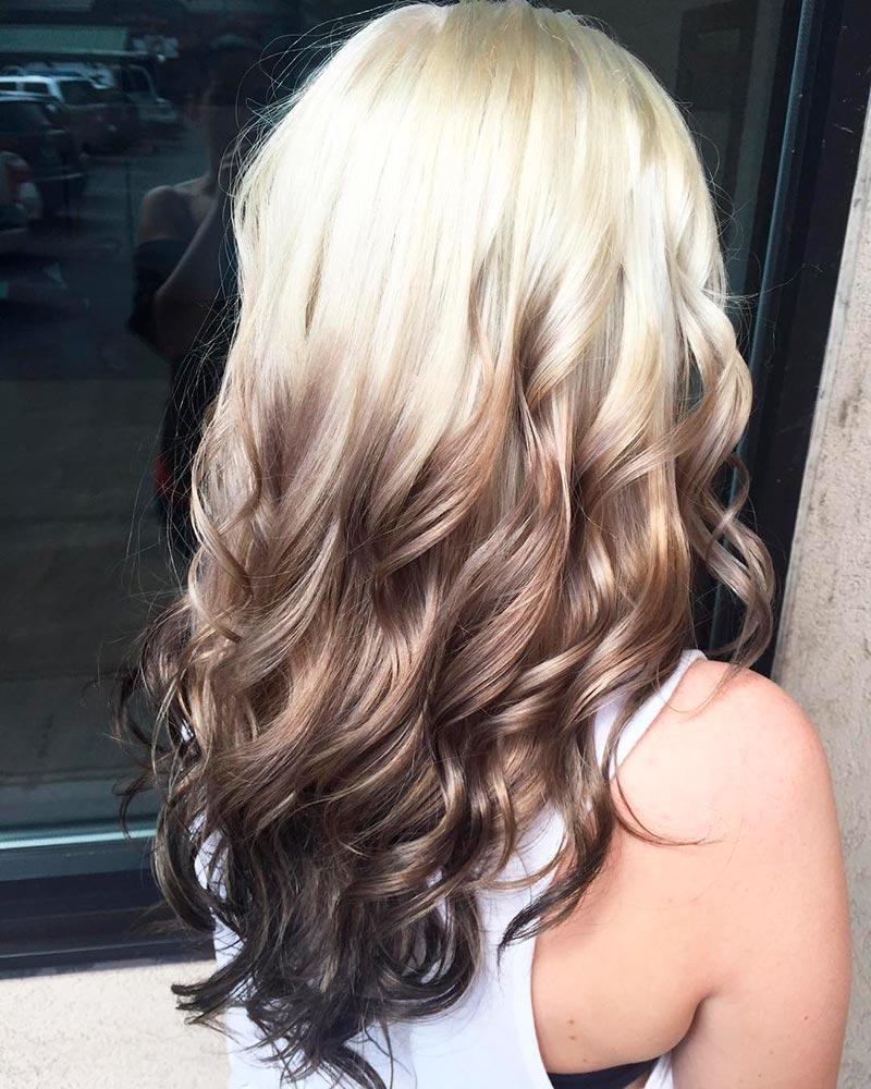 Омбре окрашивание волос