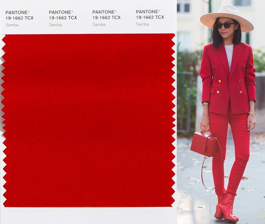 Модный темно-красный