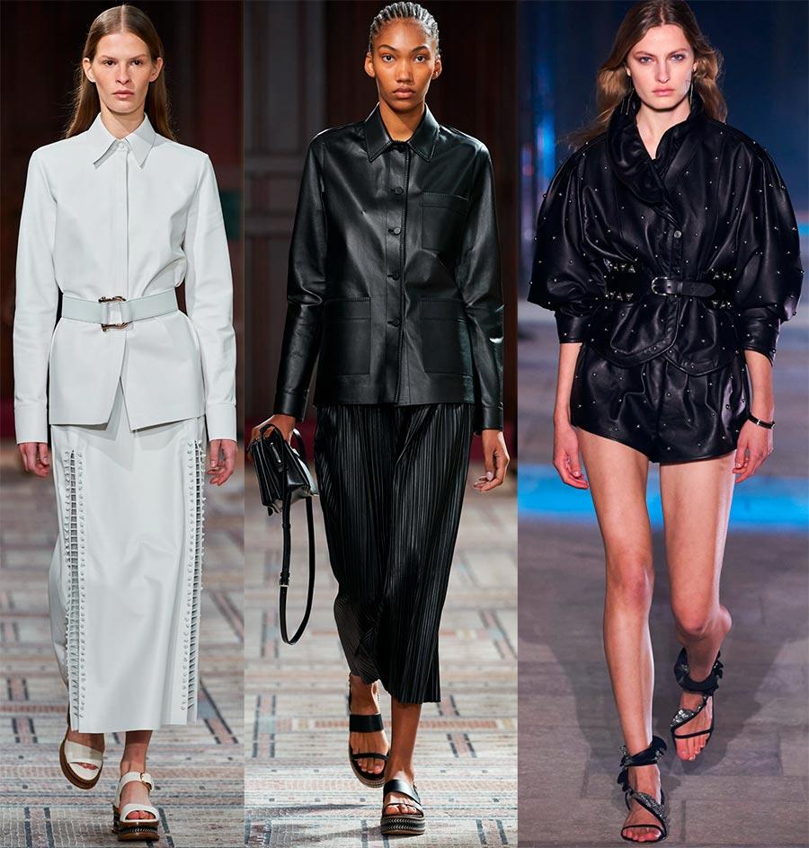 Кожаные женские костюмы