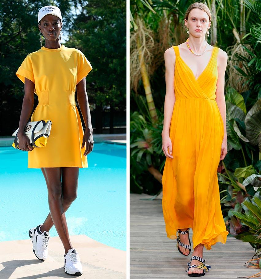 Желтые платья 2021