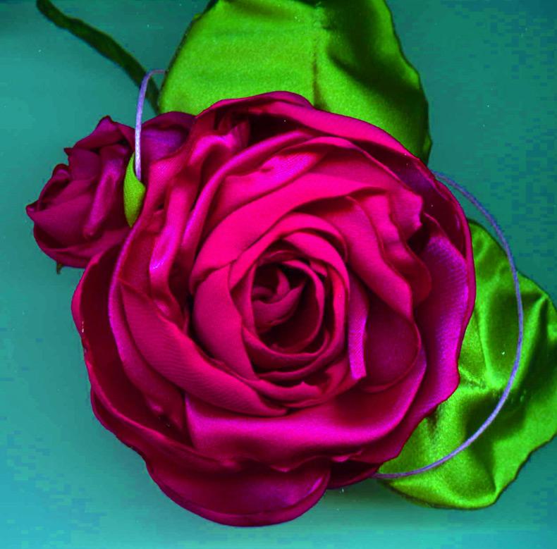 Как сделать цветы из ткани история