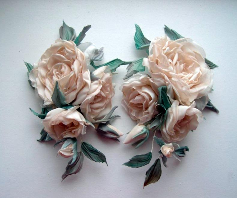 как самому сделать цветок розу из ткани.
