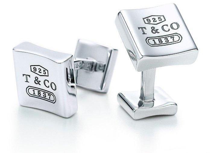 Серебряные запонки от Тиффани 925 проба