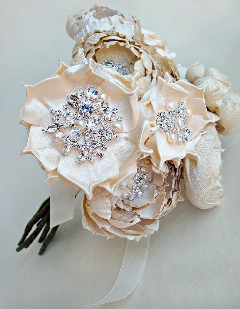Цветы из лент ткани своими руками мастер