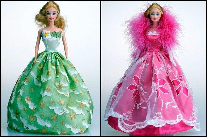 Весьма...  Шили платья, топики и маечки для Барби, свадебные платья, вечерние платья, сумочки и ремни.