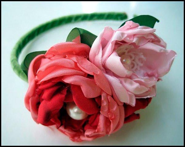 Декоративные цветы из ткани фото