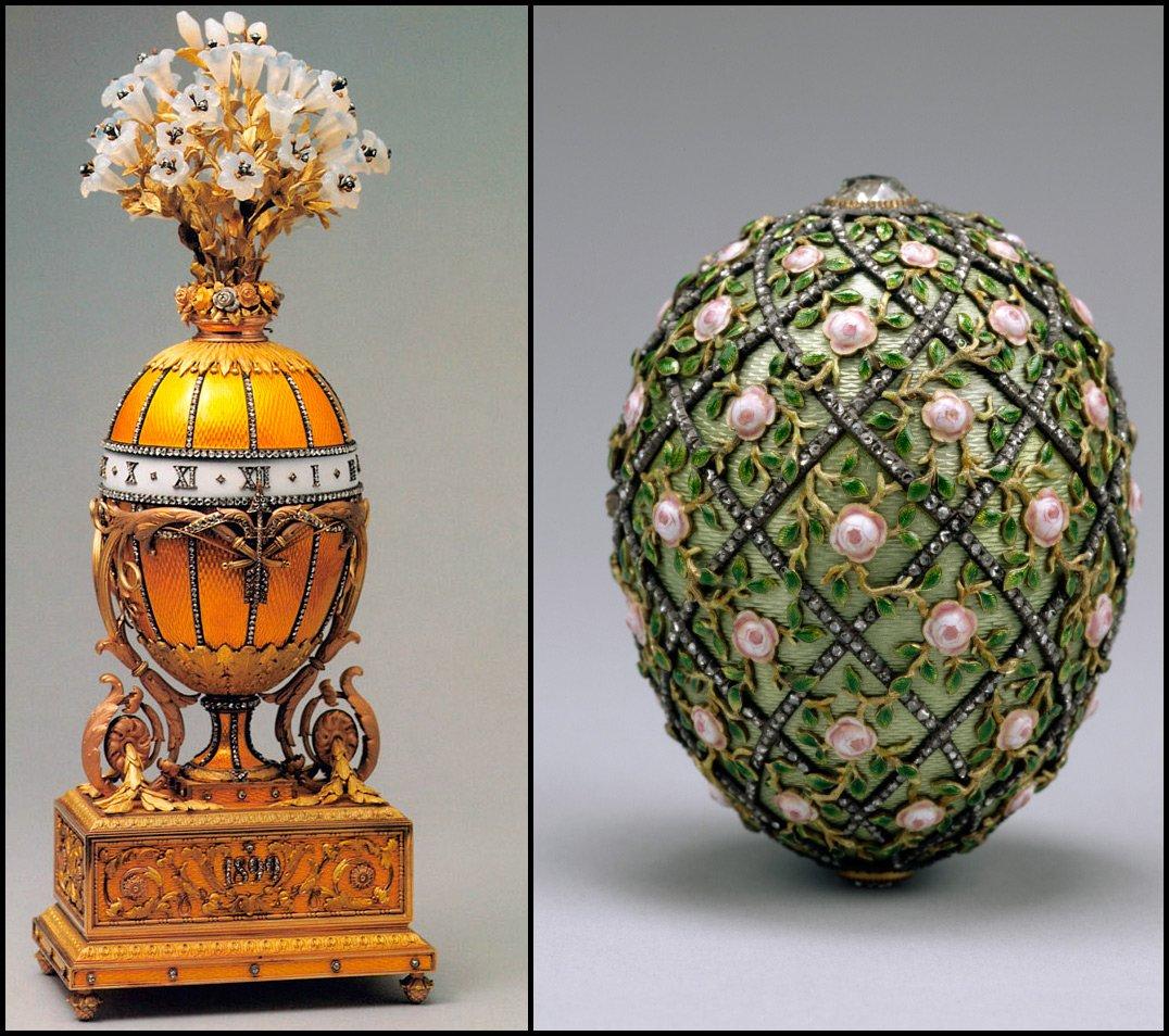 В годы революции некоторые из яиц Фаберже были утеряны, большинство - перевезены в Кремль, где они и хранились до...