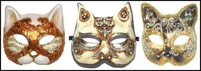 Венецианские карнавальные маски кота