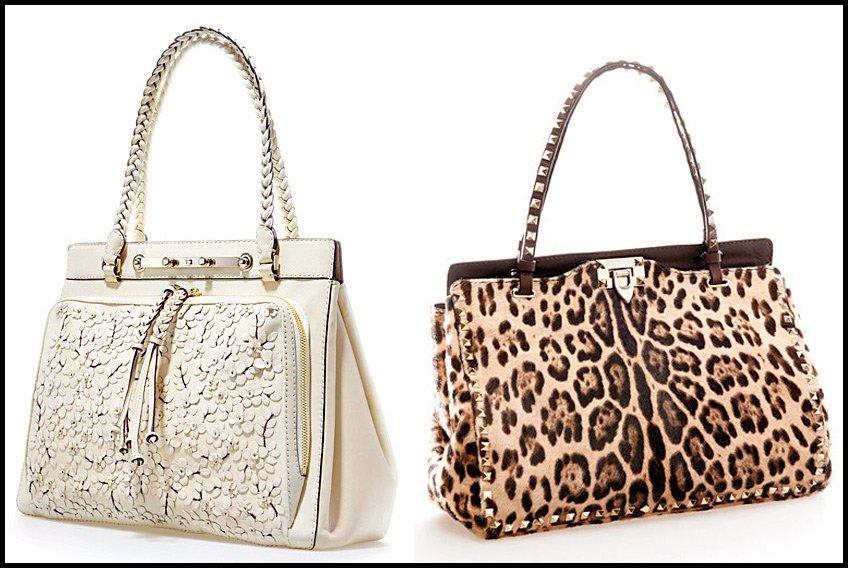 модные коричневые сумки осени valentino rockstud fw иьалия купить фото