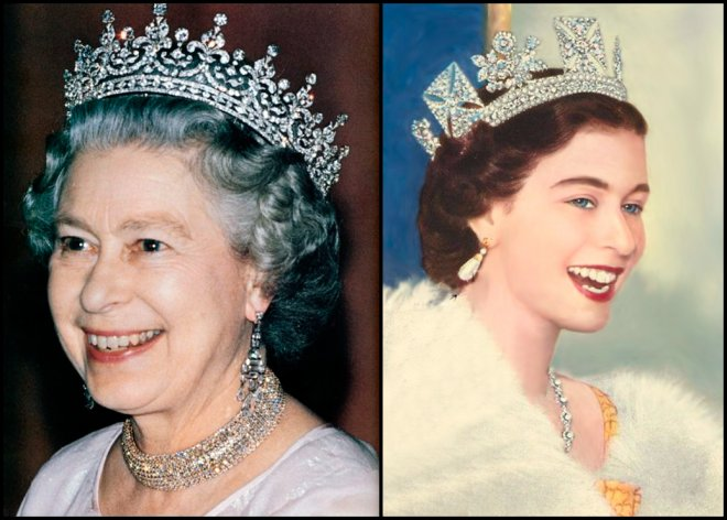 Консервативный стиль одежды английской королевы Елизаветы II.