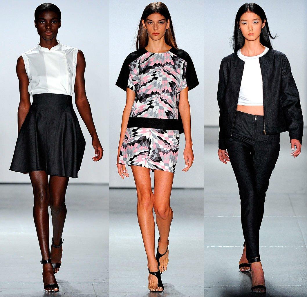 И модная одежда от tibi весна лето 2013