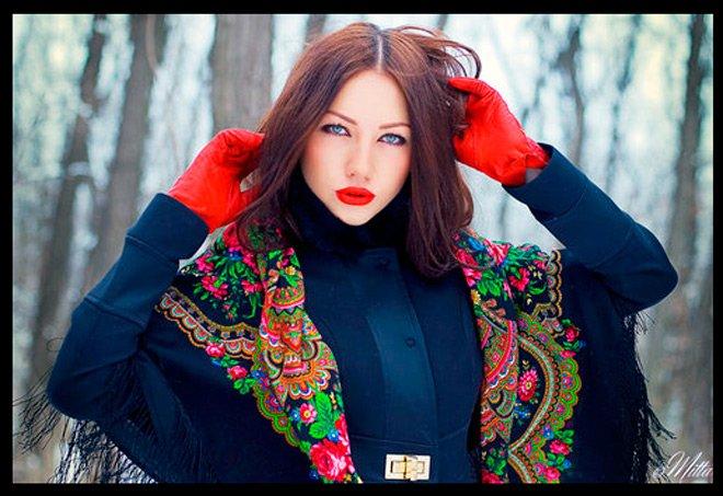 Русские шали и платки история и фото