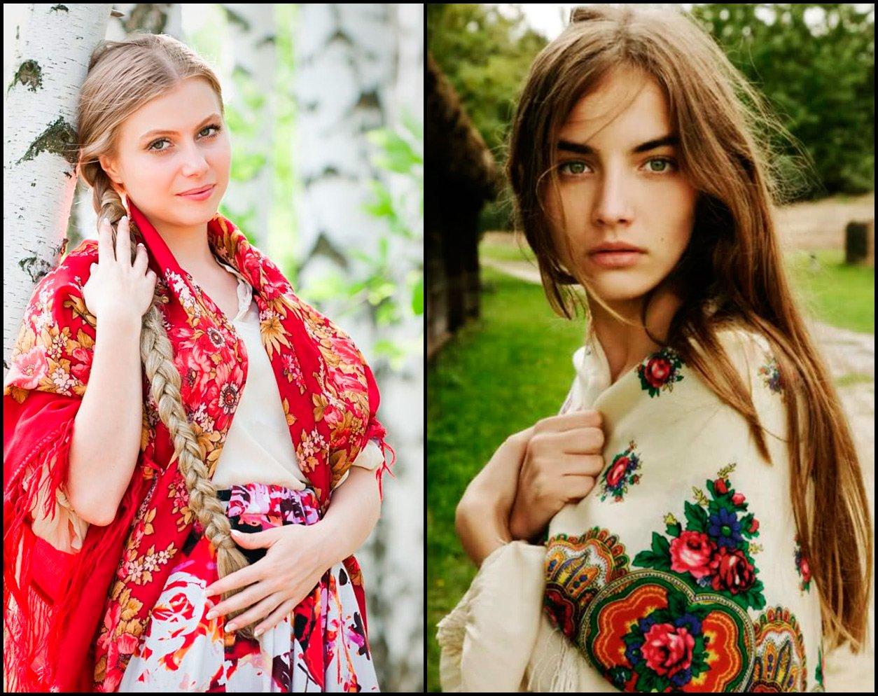 Русские красавицы и русские шали