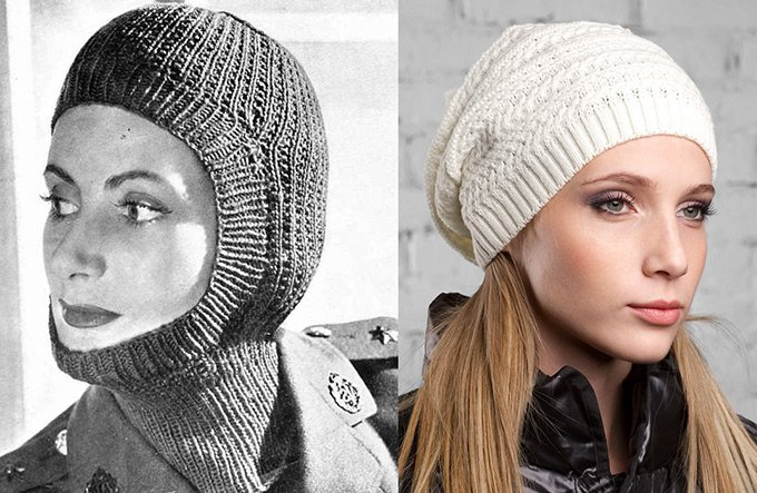 Вязаная шапка-носок и шапочка балаклава тоже в моде зимой 2012-2013