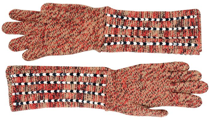 Вязаные перчатки от бренда Missoni