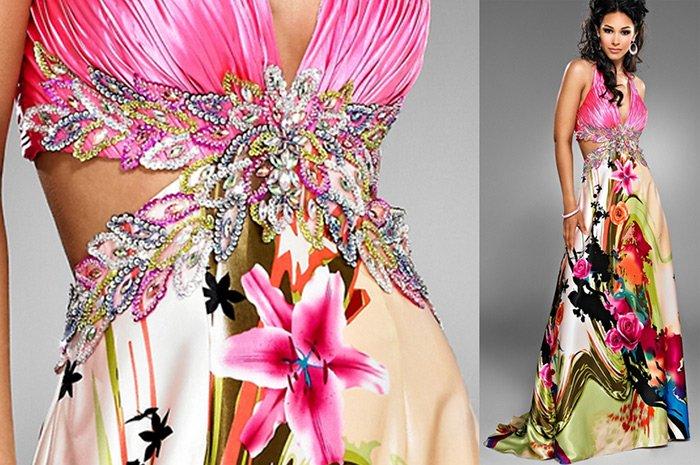 Платье украшенное бисером фото