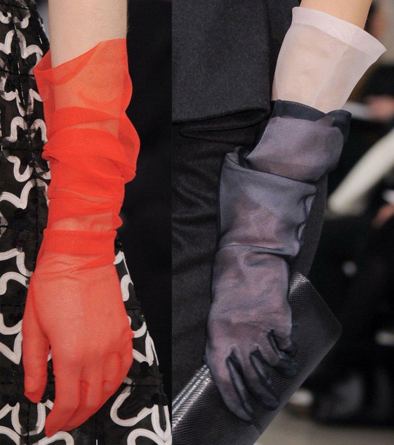Прозрачные перчатки, фото