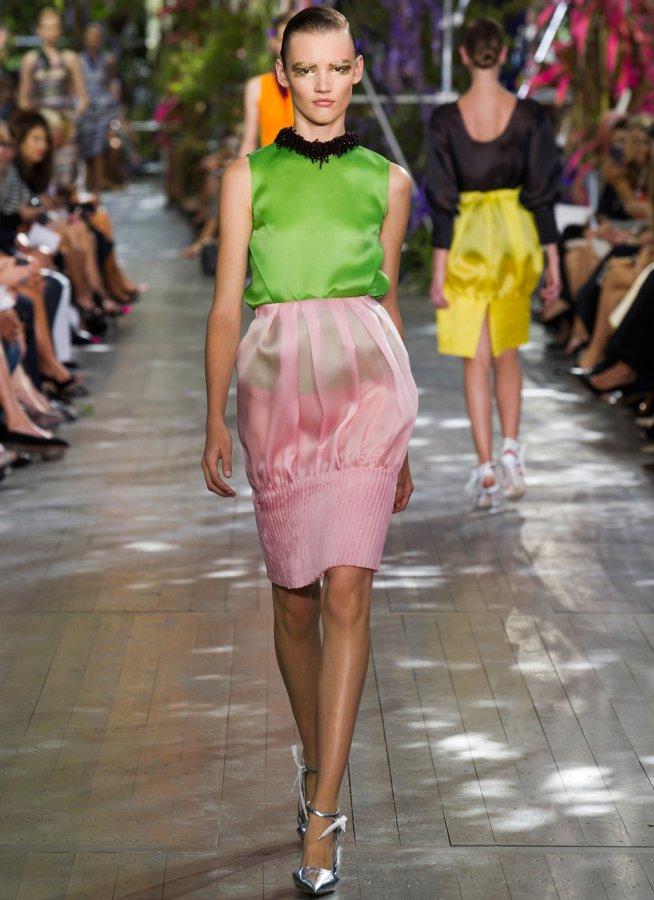 Dior мода весна лето 2014 фото коллекции
