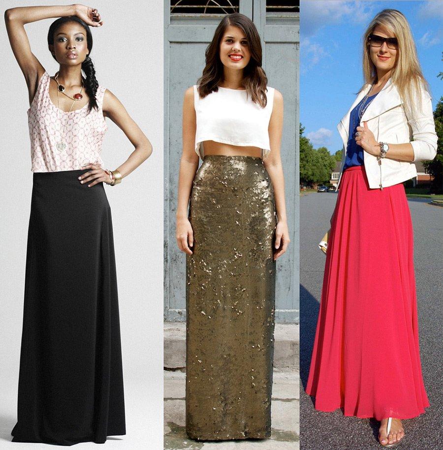Под что одевать длинную юбку
