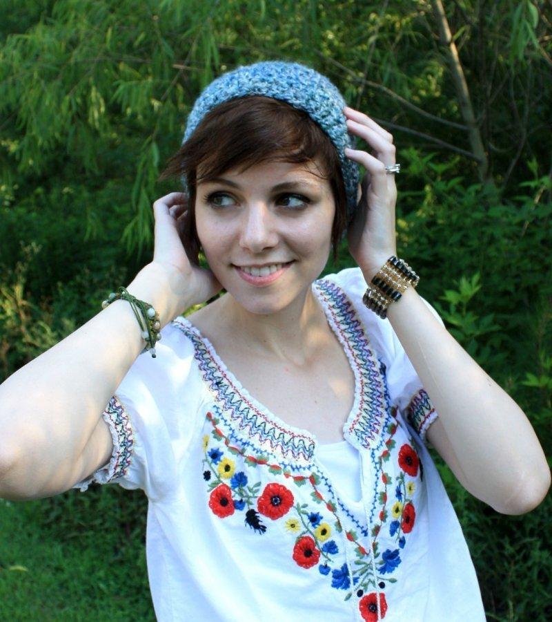 детские шапочки спицами для девочек