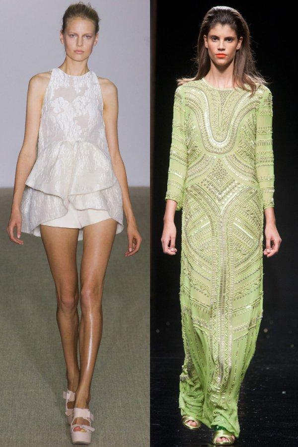 Модные платья весна-лето 2014 Giambattista Valli, John Richmond