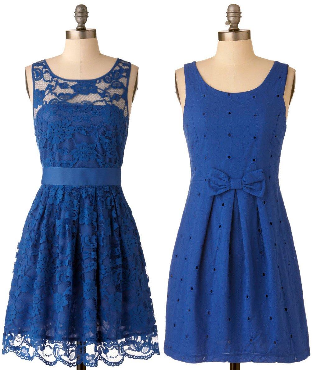 Платья темно голубого цвета