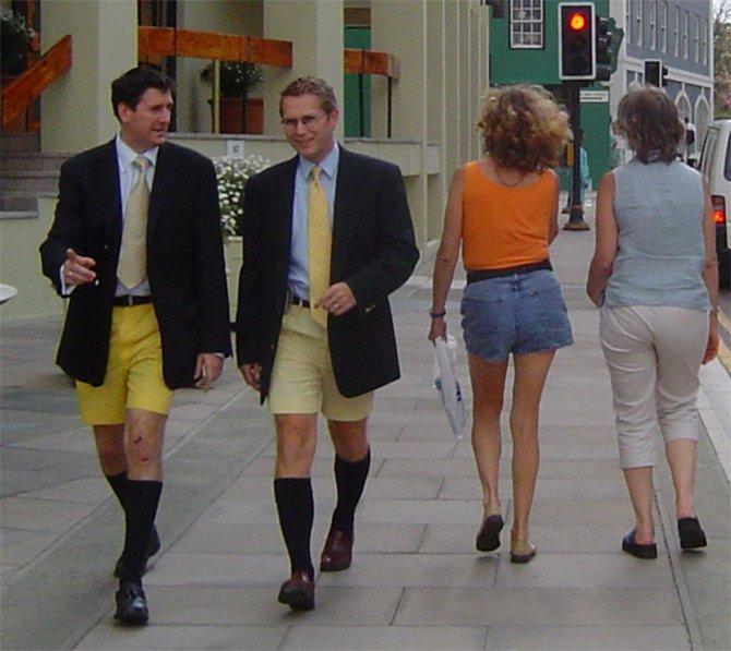 Мужчины в шортах
