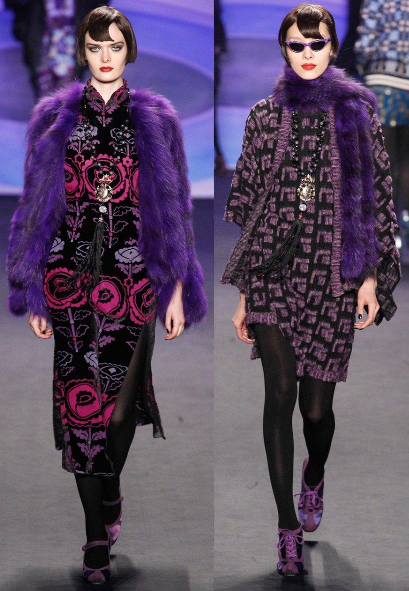И 2 фото снизу – шубы и пальто от anna sui