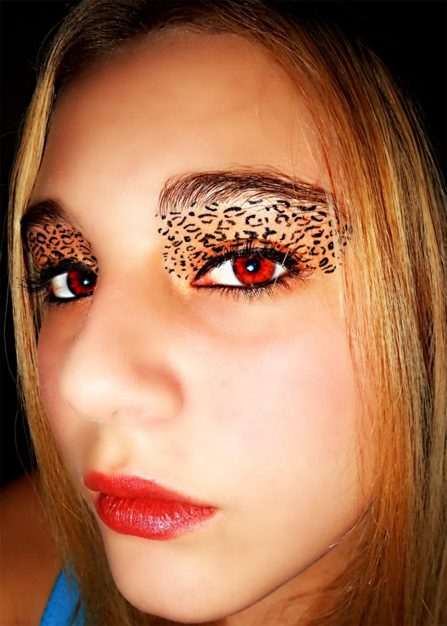 Картинки: Леопардовый макияж для глаз