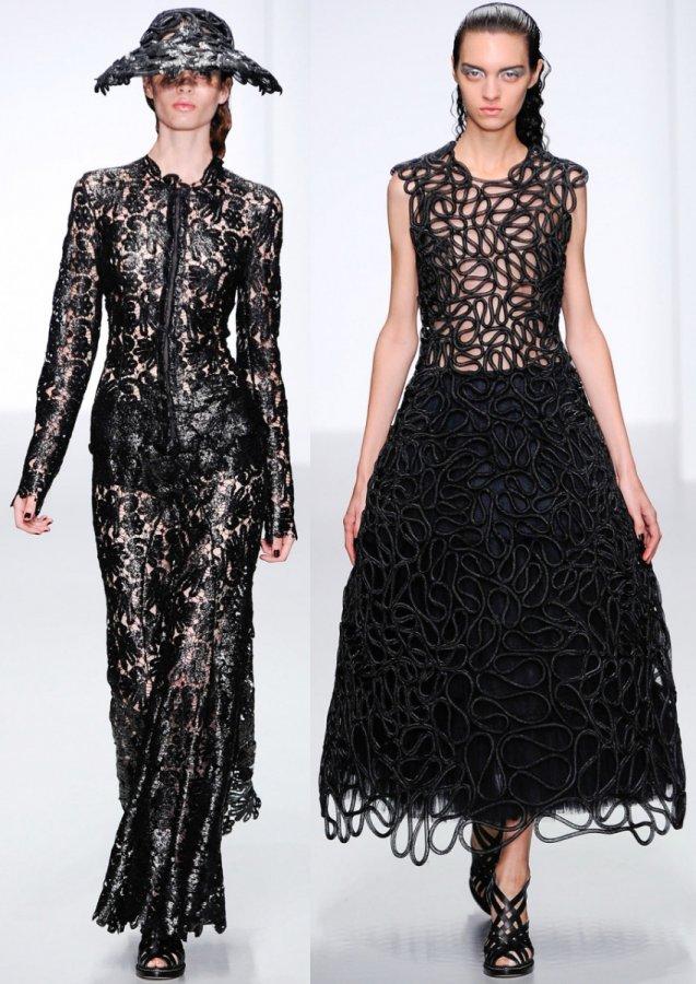 Черные платья весна лето 2014