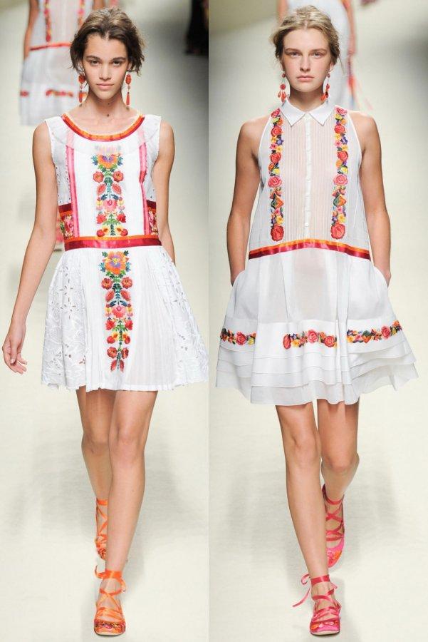 модные летние платья 2015 фото Дизайнеры позволяют модницам экспериментировать с цветовыми решениями, фасонами и материалами