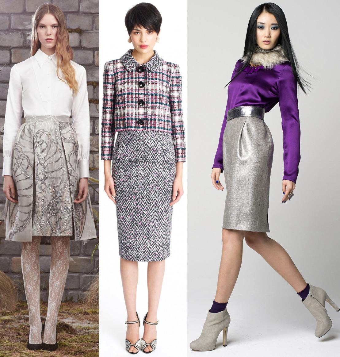 модные юбки 2014  зима