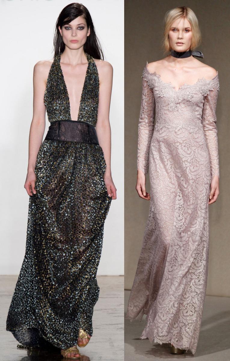 Эротика с моделями в шикарных вечерних платьях 8 фотография