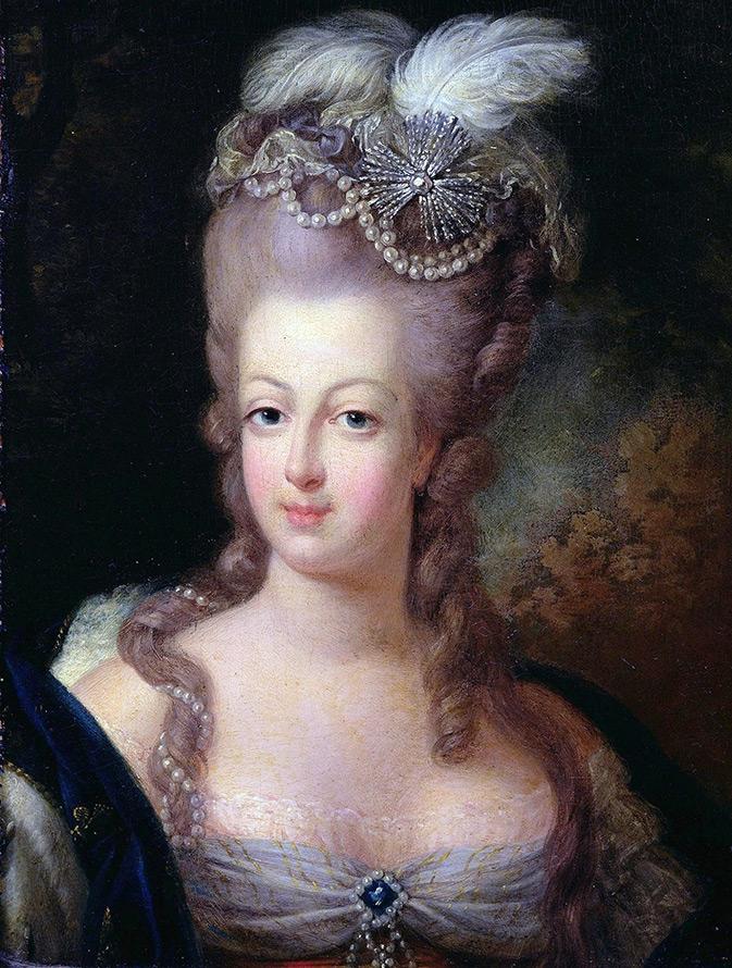 Прическа Марии-Антуанетты