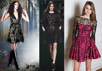 Модные ткани и цвета платьев 2015