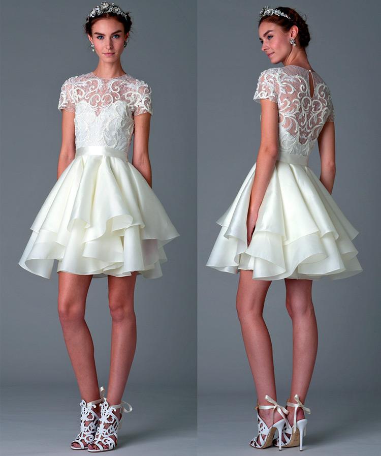свадебное платье Marchesa 2016-2017