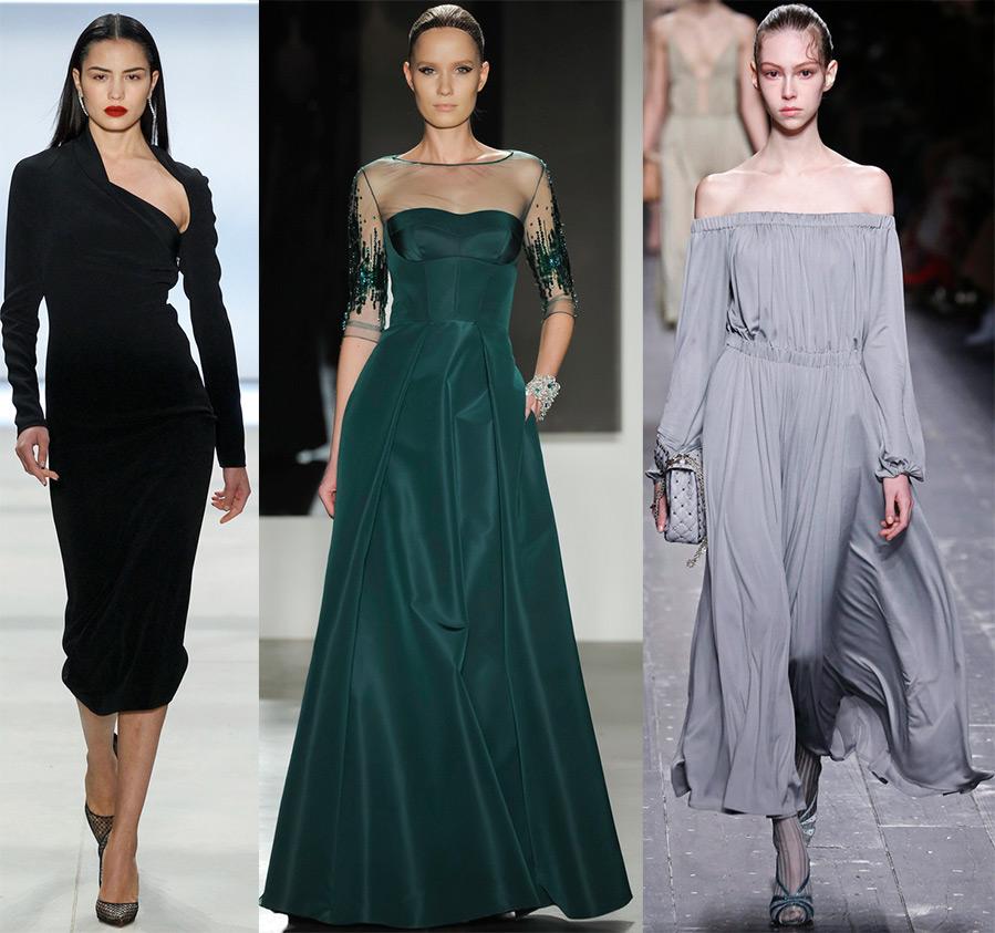 Модные тенденции в платьях 2017